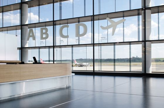 Signs of the Times: wayfinding design that pushes the boundariesVienna Airports, Airports Design, Wayfinding Signage, Custom Design Airports, Wayfinding Design, Bit Lost, Co Design, Boundary, Airports Signage