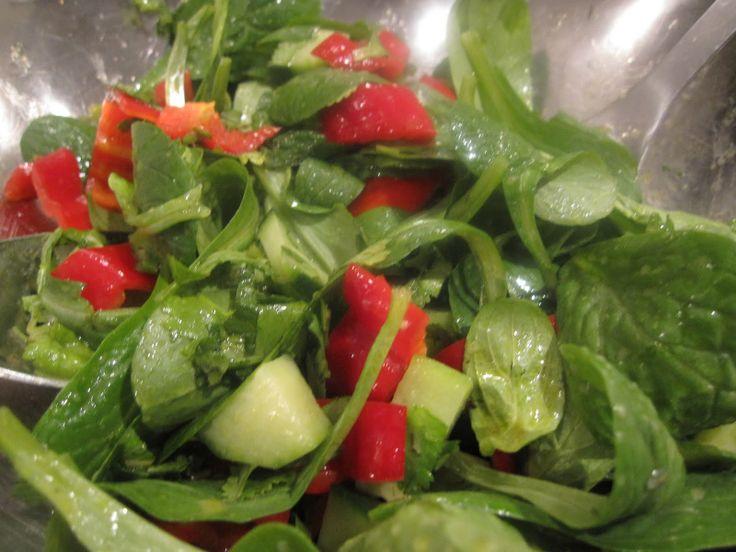 Mache Lettuce Salad With Avocado Zest Oil & Apple Cider Vinaigrette