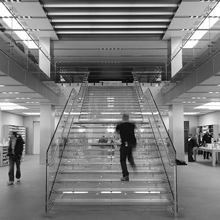 Material Matters: Glass #glass #london #stair #staircase #regent #street #apple #transparent