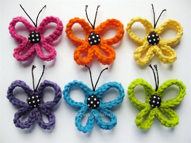 PATTERN-Crochet Loopy Butterfly-Detailed Photos. $3.50, via Etsy.
