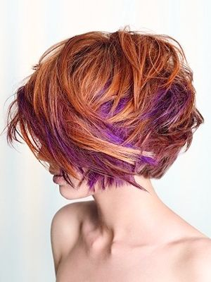 Clip In Dip Dyed Hair - Pics like this make almost make me want to chop my hair off again!