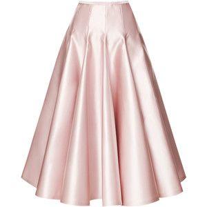 Rochas Duchesse Satin A-Line Skirt