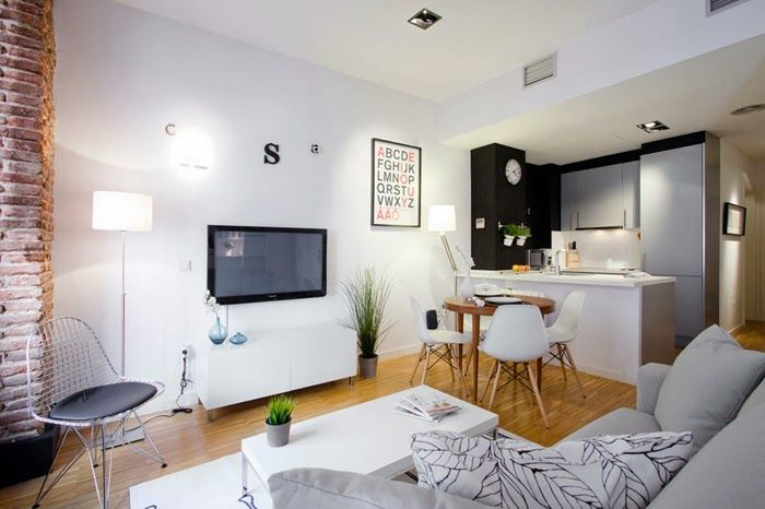 Un mini apartamento con toques en negro | Decoración