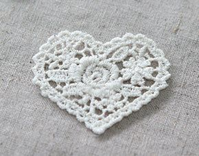Heart and One Rose Lace Motive, 5 cuts A Set, U2743