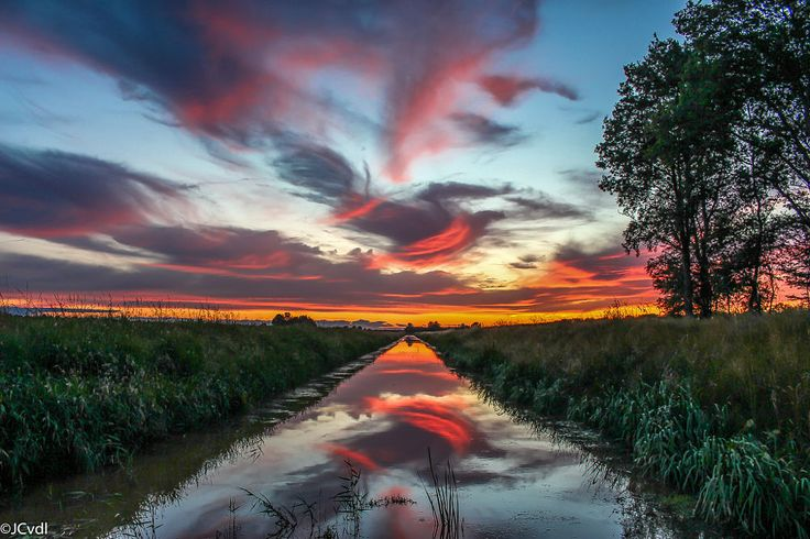 Exeptional colorful sky after sunset  by Wilco van der Laan Fotografie on 500px