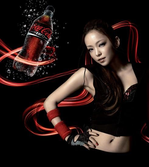 ダイエットコーラのイメージキャラクターにもなっていた安室奈美恵