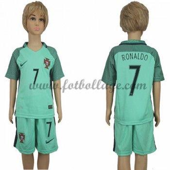 Portugal Barn Landslagströja 2016 Cristiano Ronaldo 7 Borta Matchtröja