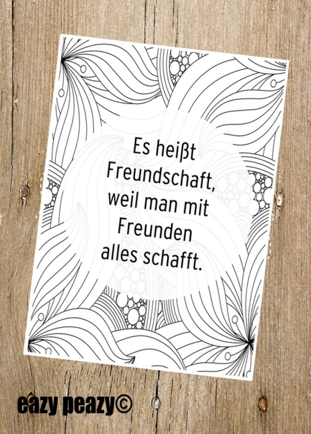 Postkarte für beste Freunde, motivierender Spruch, liebevoller Spruch / postcard for best friends, friendship for a lifetime, paper card, lovely saying made by eazy-peazy via DaWanda.com