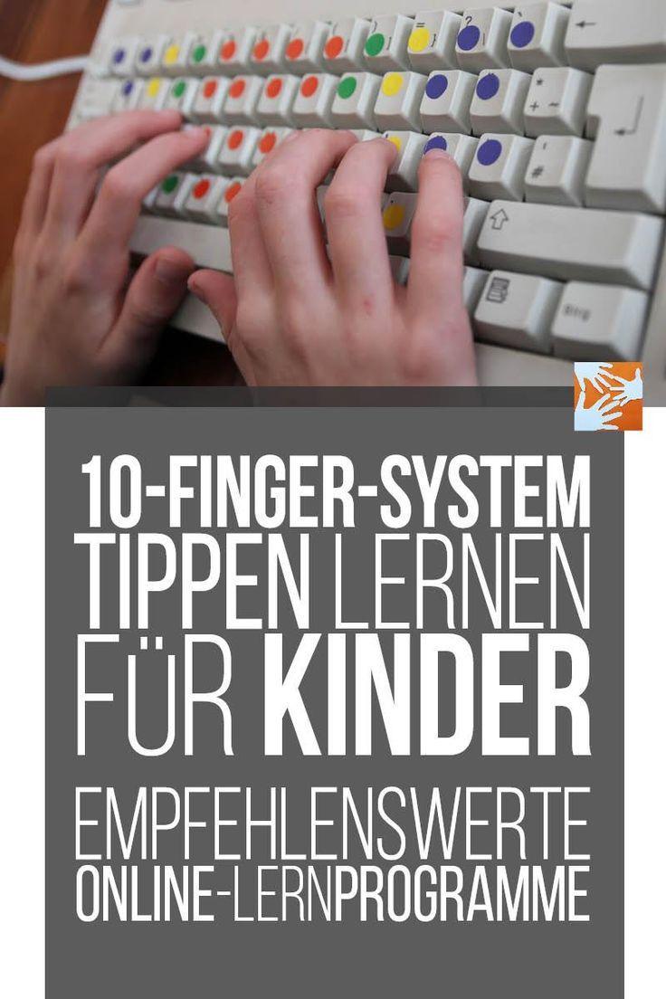 10-Finger-System: Tippen lernen für Kinder - empfehlenswerte Online-Lernprogramme für das Zehnfingersystem, Schreibmaschine schreiben lernen