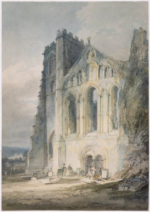 Joseph Mallord William Turner 'Llandaff: The West Front of the Cathedral', 1795–6