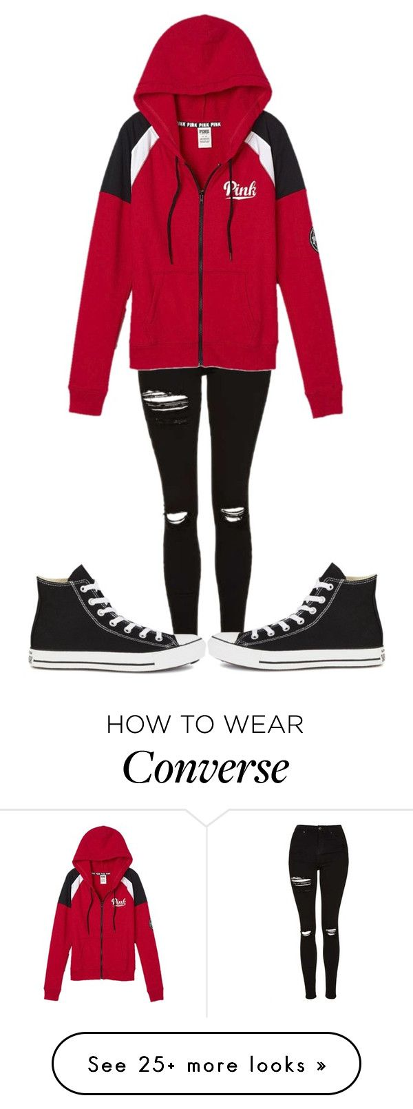 """""""Untitled #447"""" by sydthekyd01 on Polyvore featuring Topshop, Victoria's Secret and Converse"""