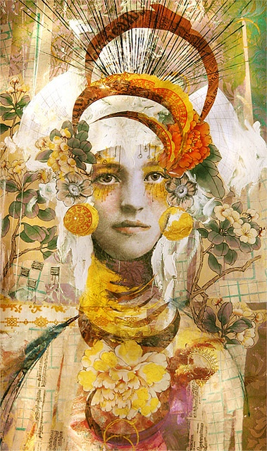 """Golden Girl""  Artist:  Anahata Katkin  To see more work go to:  www.anahata.typepad.com"