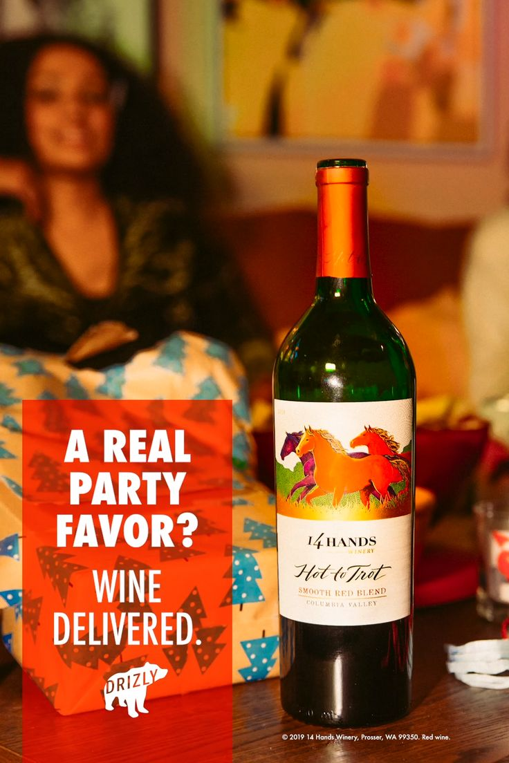 Keep The Holidays Flowing With 14 Hands Wine Delivered In An Hour Or Less Video Wine Wine Delivered Wine Brands