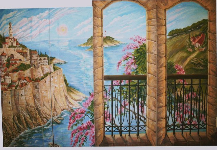 4 porte dipinte  a mano.Autore M Sambur . Mosca 2006