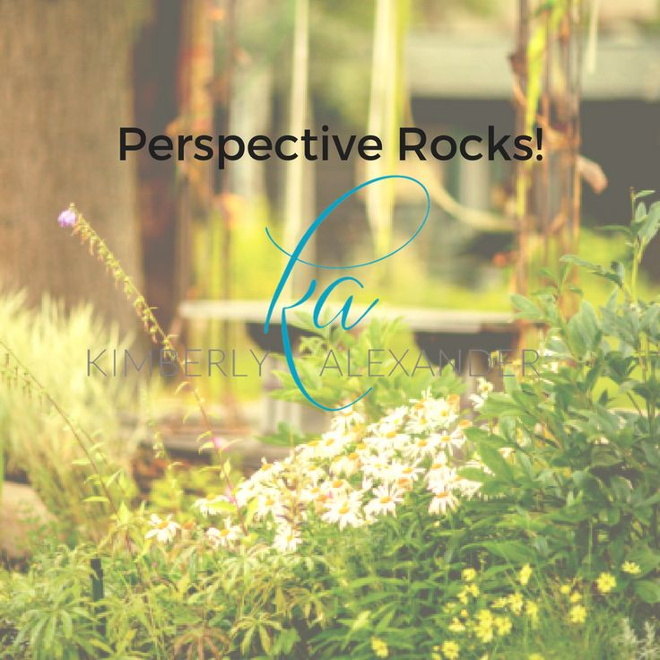 Perspective will bring you self-discovery through purpose, people and whom you desire to serve.
