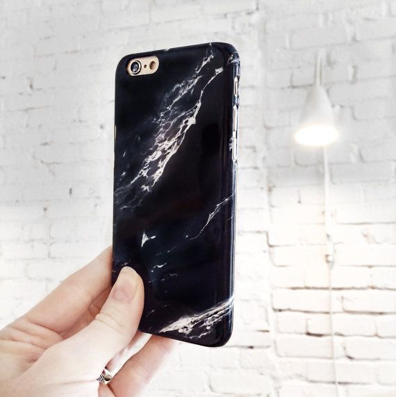 Marble iPhone 6S Case Black Marble iPhone 6 by JoyMerrymanStore