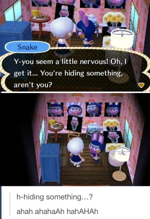 OF COURSE I'M NOT HIDING ANYTHING SNAKE WHY'D YOU ASK