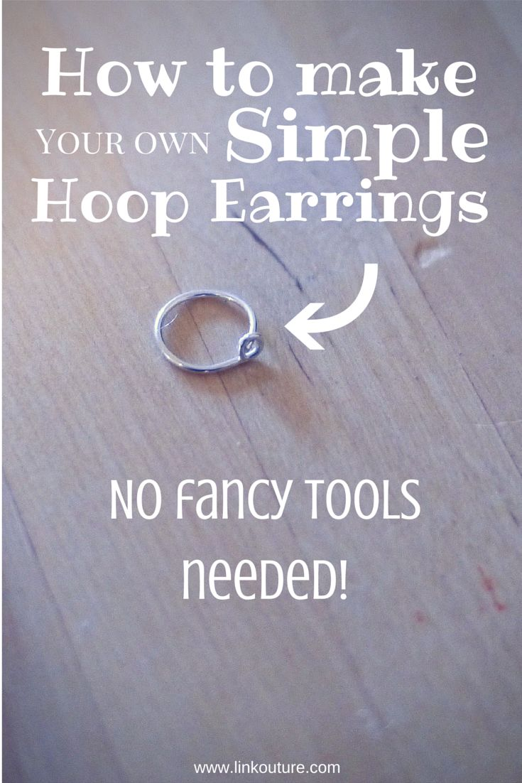 Diy How To Make Your Own Small Hoop Earrings Via @linkouture