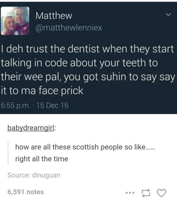 Scottish tweets