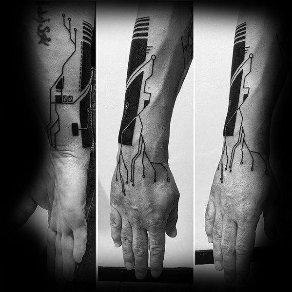 50 Computer Tattoo Designs für Männer – Technologie Tinte Ideen