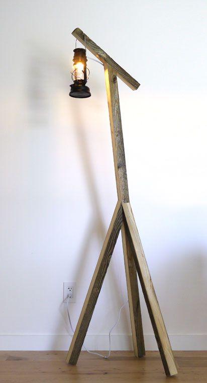 A RUSTIC DIY FLOOR LAMP.