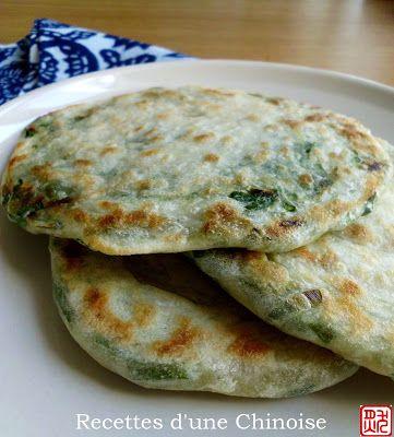 Recettes d'une Chinoise: Cong you bing (galette fine aux ciboules) 葱油饼 cōng yóu bǐng
