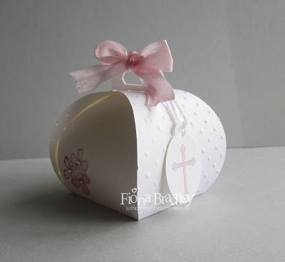 Curvy Keepsake Boxes - Baptism - Baby Girl - Stampin' Up! - Just Spiffing by Fiona Bradley