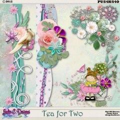 Tea for Two Borders n Corners