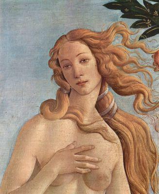 Birth of Venus Detail 3 by Botticelli. Order from DEKORAMI as a poster, canvas print, mural. Zamów jako obraz na płótnie, plakat lub fototapetę na DEKORAMI.pl