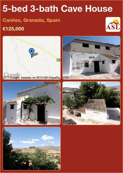 5-bed 3-bath Cave House in Caniles, Granada, Spain ►€125,000 #PropertyForSaleInSpain