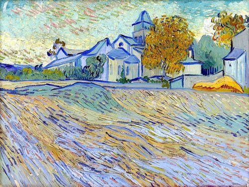 bofransson:  Vincent Van Gogh View of the church of Saint-Paul de Mausole1889