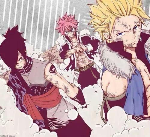 Natsu, Rogue et Sting