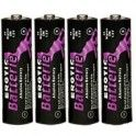 Erotic Batteries 4pc  Erotic Batteries 4pc nSet with four 1.5 Volt alkaline batteries with extra long power. Suitable for vibrators and other battery-depending love toys. Environmentally friendly.