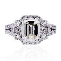 18k White Gold GIA 3ct Emerald Cut Diamond Engagement Ring Find this 18k White Gold GIA 3ct Emerald Cut Diamond Engagement Ring at Raymond Lee Jewelers in Boca Raton — Palm Beach County&#8217…