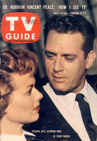 TV Guide with Raymond Burr as Perry Mason