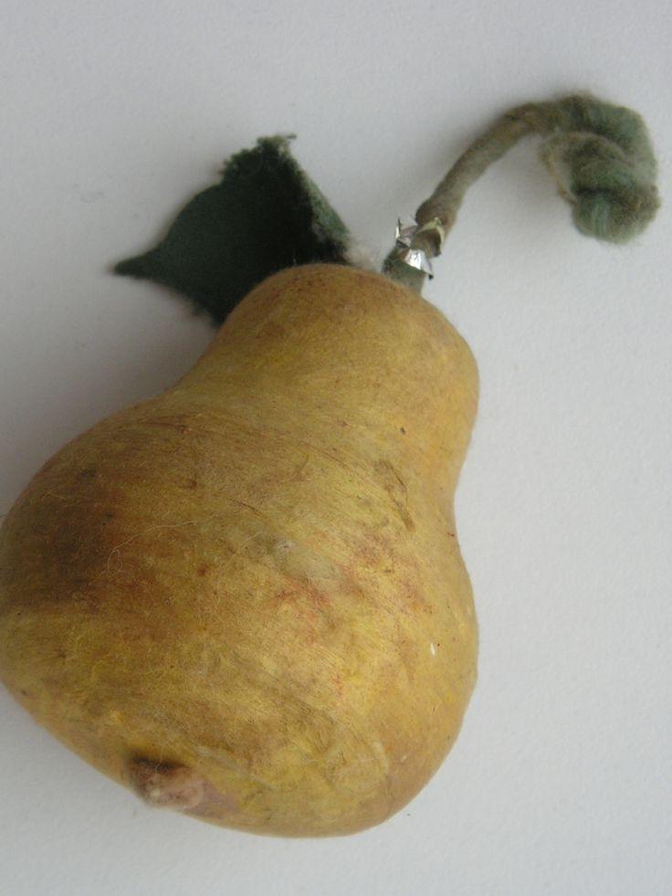 "Antique Russia Christmas Spun Cotton Ornament ""Pear"""