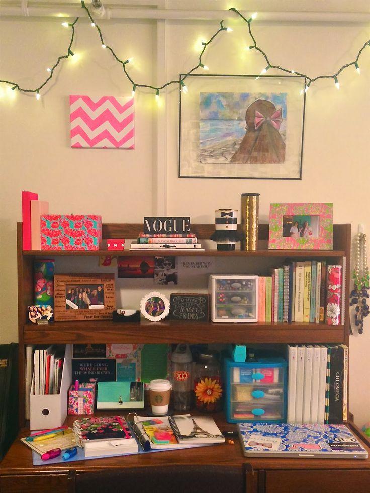 best 25 college desk organization ideas on pinterest. Black Bedroom Furniture Sets. Home Design Ideas