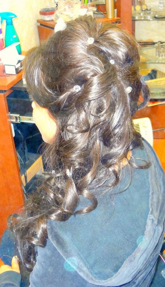 Prom hair to the side  The Galleria Salon & Day Spa Laconia,NH