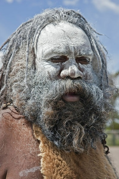 Australia New South Wales - An Aboriginal man at Katoomba