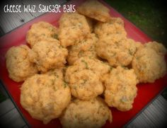 Dancing on the Table: Cheese Whiz Sausage Balls
