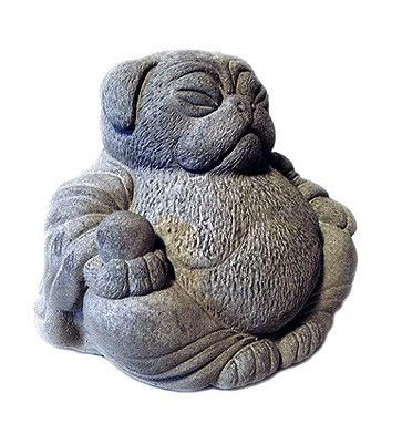 ~ Looks like my Seymore!~   ZEN PUG DOG Buddha Garden Art Statue Sculpture by by TyberKatz, $33.99