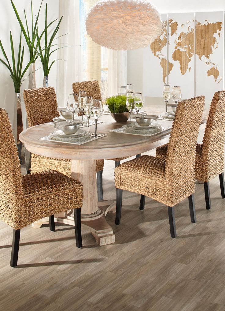 74 best images about pinspired interiors dining in on pinterest dining room furniture dining - Stylish modern dining sets for neutral toned interior ...