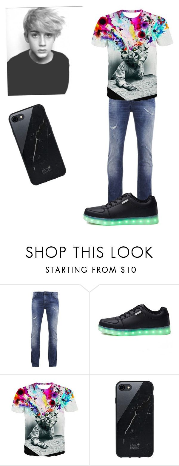"""""""Emmet"""" by purdy-coma ❤ liked on Polyvore featuring BOSS Orange, Native Union, men's fashion and menswear"""