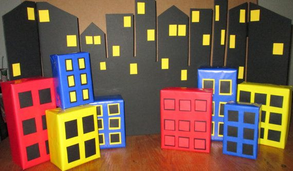 Super Hero Backgound  City Scape  SuperHeroes by PoppysmicBowtique, $40.00