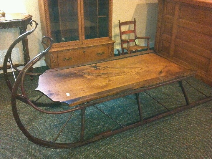Antique sleigh coffee table priced at call s l a m wautoma wi 920 787 1325 home Antique sleigh coffee table