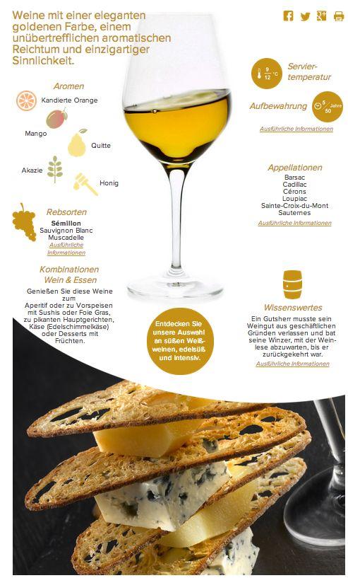 Bordeaux Wein I Sauternes Süßweine  www.bordeaux.com/de/weine/farben/weine-weiss-suss-edelsuss-intensiv