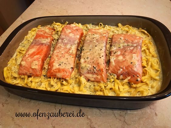Photo of Salmon tagliatelle with cream sauce in the oven witch of Pampered Chef®