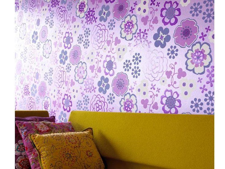 Eiffinger tapet Purple flower lilla blomster
