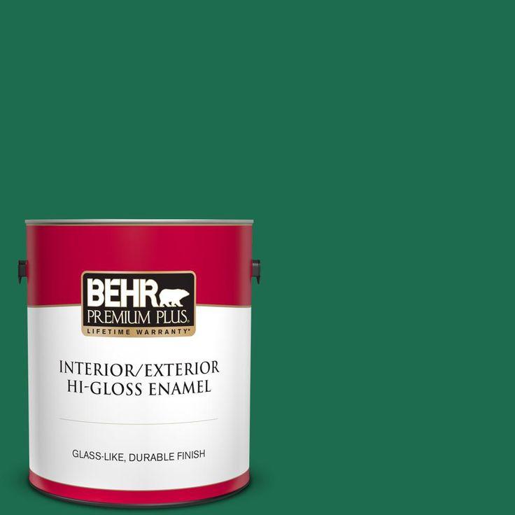 BEHR Premium Plus 8 oz. #S-H-470 Precious Emerald Flat Interior/Exterior Paint and Primer in One Sample