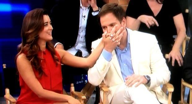 Michael Weatherly and Cote de Pablo                                                                                                                                                     More